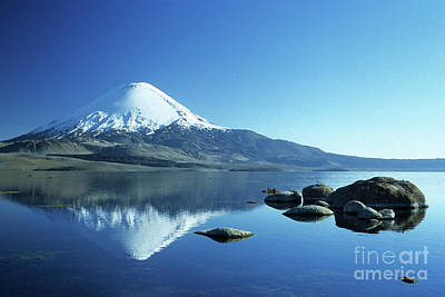 Parinacota Volcano Reflections Chile Art Print