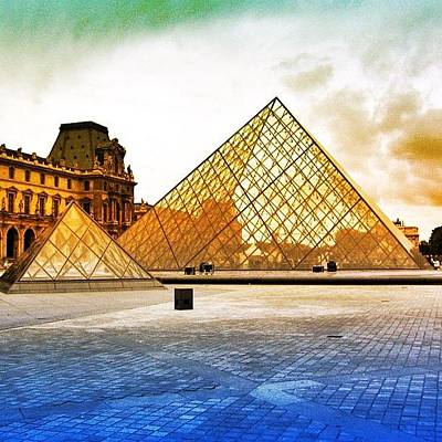 Travel Photograph - Paris - Louvre by Luisa Azzolini