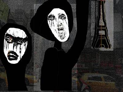 Paris After Dark Art Print by Rc Rcd