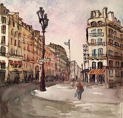 Wall Art - Painting - Paris After The Rain by Elissa Poma