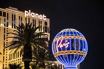 Photograph - Paris And Planet In Las Vegas by John McGraw
