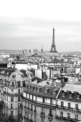 Photograph - Paris And The Eiffel Tower From Printemps Rooftop  by D Renee Wilson