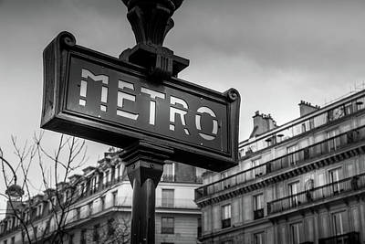 Photograph - Paris And The Metro by Georgia Fowler