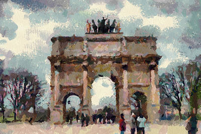 Digital Art - Paris Arc by Yury Malkov
