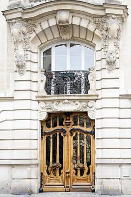 Paris Art Nouveau Door Art Print by Ivy Ho