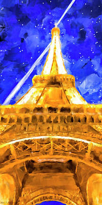 Eiffel Tower Mixed Media - Paris Ascending by Mark Tisdale