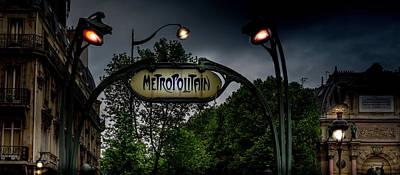 Metro Art Photograph - Paris At Night by Georgia Fowler