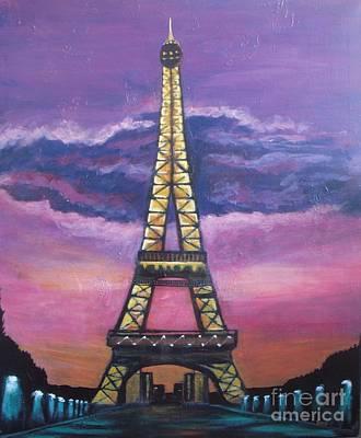 Paris Painting - Paris At Night by Vesna Antic