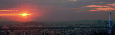 Photograph - Paris At Sunset by Jerry Kalman