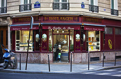 Food Stores Photograph - Paris Bakery by Art Block Collections