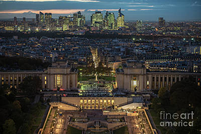 Photograph - Paris Beyond The Trocadero Gardens by Mike Reid