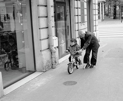 Photograph - Paris Bike Lesson II by Dave Beckerman