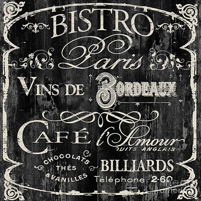Outdoor Cafe Painting - Paris Bistro  by Mindy Sommers
