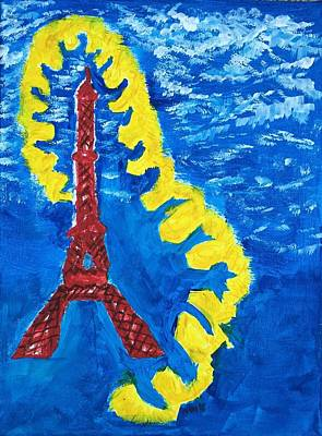 Paris Blue Original by Nannette Kelly