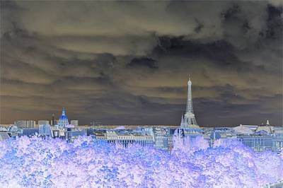 Paris Skyline Royalty-Free and Rights-Managed Images - Paris Blues by Marla McPherson