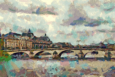 Digital Art - Paris Bridge by Yury Malkov
