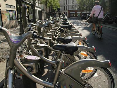 Art Print featuring the photograph Paris By Bike by Yoel Koskas