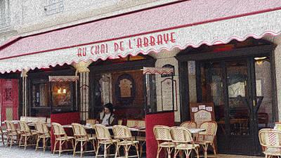 Paris Cafe 1 Art Print by Matthew Bamberg