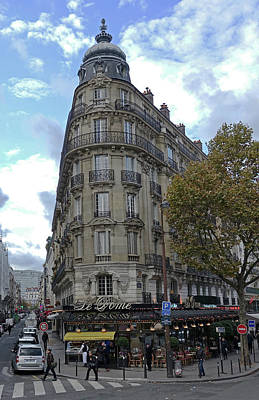 Photograph - Paris Cafe And Beautiful Architecture by Richard Rosenshein