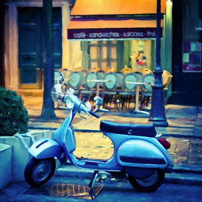 Photograph - Paris Cafe II - Paris, France by Melanie Alexandra Price
