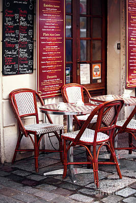 Of Artist Photograph - Paris Cafe by John Rizzuto