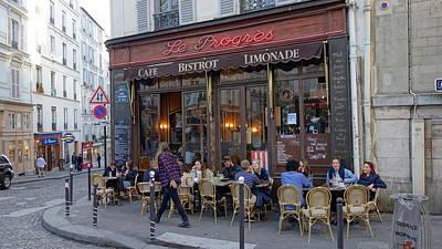 Paris Cafe Le Progres Art Print by Matthew Bamberg