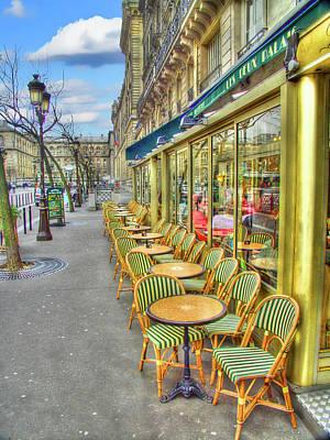 Paris Cafe Art Print by Mark Currier