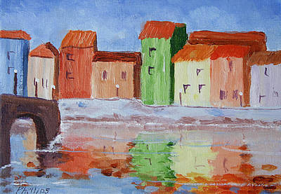 Surf The Rincon Painting - Paris Canal by Bob Phillips