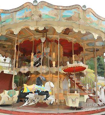 Sacre Coeur Mixed Media - Paris Carousel I by Jennifer Smith