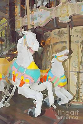 Sacre Coeur Mixed Media - Paris Carousel II by Jennifer Smith