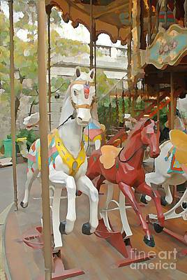 Sacre Coeur Mixed Media - Paris Carousel Iv by Jennifer Smith