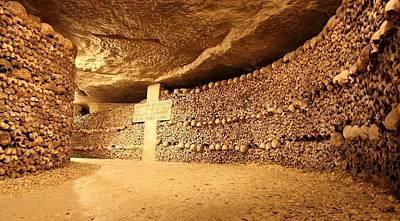 Paris Catacombs Art Print by Cco