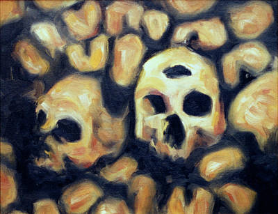 Painting - Paris Catacombs by Seamas Culligan