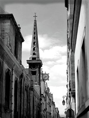 Paris Skyline Royalty-Free and Rights-Managed Images - Paris Church Saint Louis Island by Scott Carda