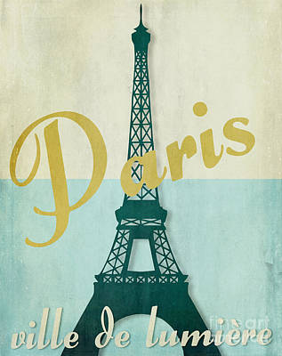 Paris City Of Light Print by Mindy Sommers