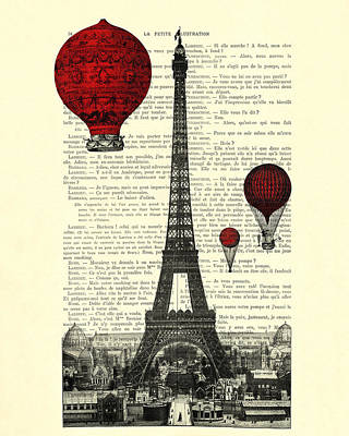 Paris, City Of Love Art Print