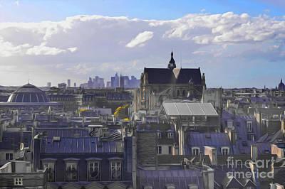 Photograph - Paris City View 37 by Alexandra Art