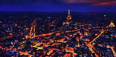 Digital Art - Paris City View by PixBreak Art