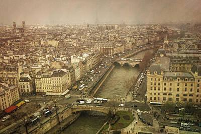 Paris Skyline Photograph - Paris Cityscape by Joan Carroll