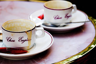 Photograph - Paris Coffee Cups by David Chasey
