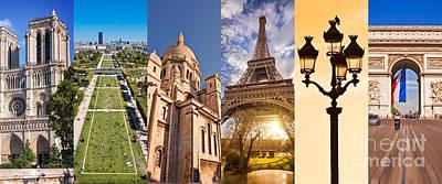 Photograph - Paris Collage by Delphimages Photo Creations
