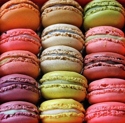 Of In A Frame Photograph - Paris Colorful Macaroons by Abbietabbie
