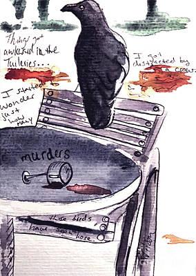 Mixed Media - Paris Crow by D Renee Wilson