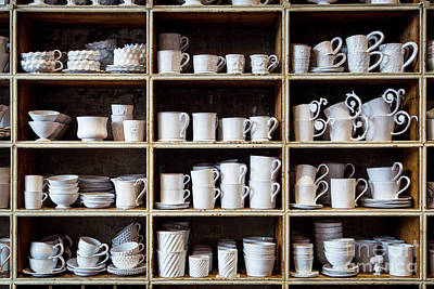 Fired Clay Photograph - Paris - Cups And Bowls by Brian Jannsen