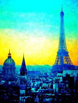 Mixed Media - Paris De Mes Reves by Michelle Dallocchio