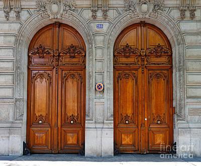Upscale Photograph - Paris Doors by Louise Heusinkveld