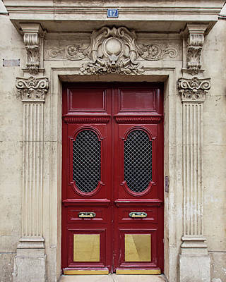 Photograph - Paris Doors No. 17 - Paris, France by Melanie Alexandra Price