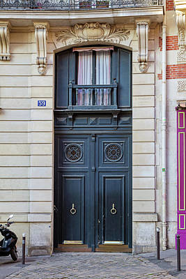 Photograph - Paris Doors - No. 59 by Melanie Alexandra Price