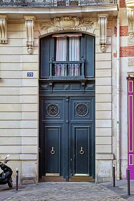Photograph - Paris Doors - No. 59 by Melanie Alexandra Price