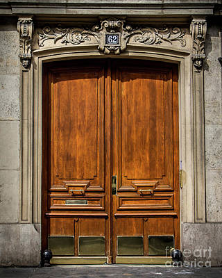 Photograph - Paris Doorway by Perry Webster
